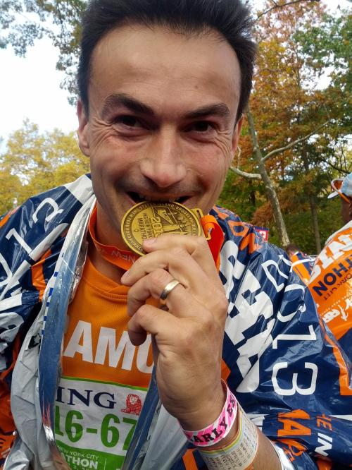 New York City Marathon medaille 2013 - Ramon de la Fuente