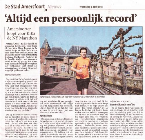 Artikel - Ramon de la Fuente - De Stad Amersfoort