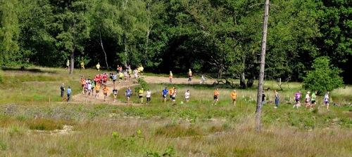 De heuvel op bij de Vlasakkers - halve marathon van Amersfoort