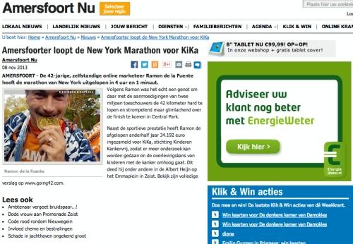 Amersfoort NU - New York Marathon - Ramon de la Fuente