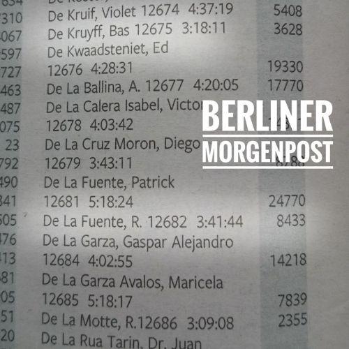 Berlin Marathon Results Berliner Morgenpost