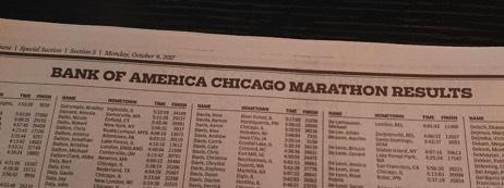 Chicago Tribune Marathon Edition 2017 - koptekst