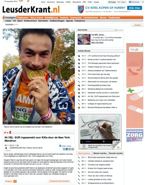 Leusderkrant - New York Marathon - Ramon de la Fuente