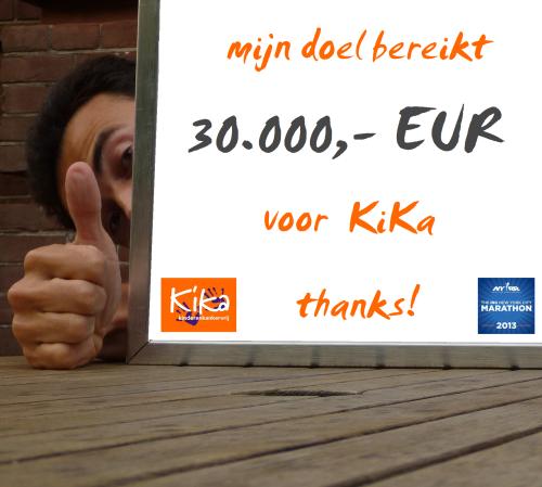 Ramon de la Fuente - 30k EUR milestone KiKa