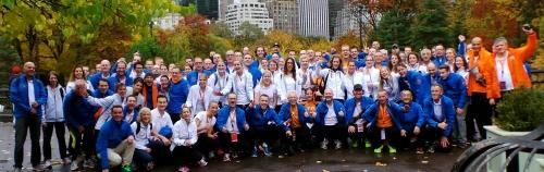 Groepsfoto RunforKiKa Central Park - New York Marathon