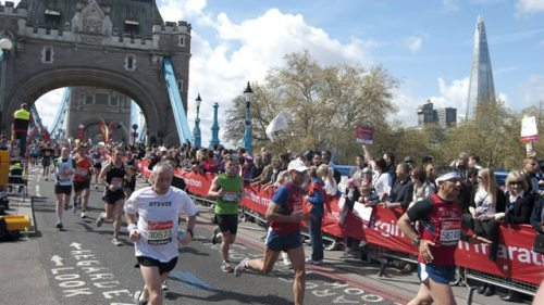 London Marathon Tower Bridge