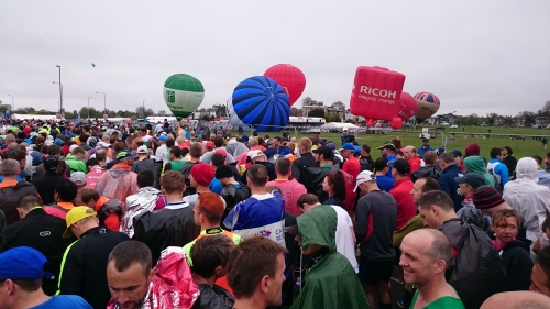 Wachten op de start London Marathon