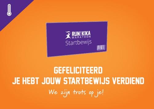 Startbewijs Berlijn Marathon