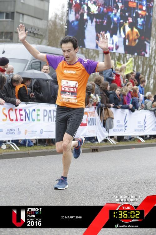 Ramon de la Fuente voor KiKa Marathon Utrecht Science Park