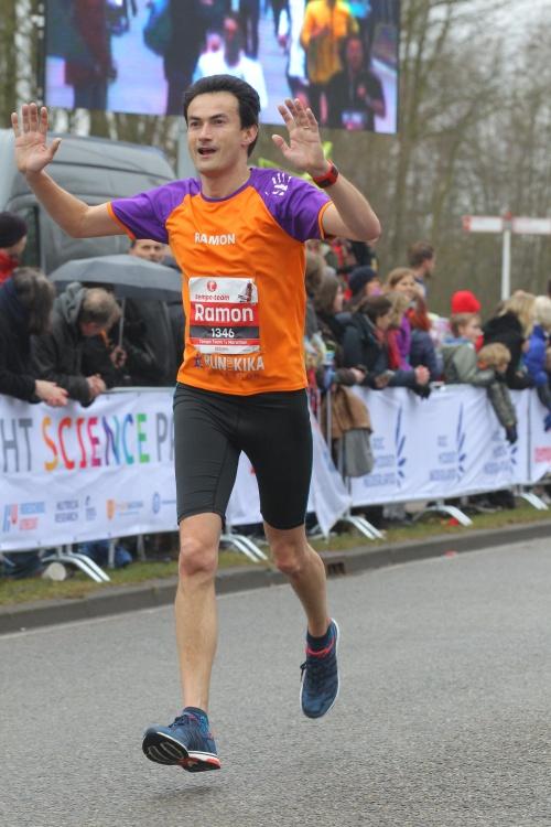 Ramon de la Fuente vliegt voor KiKa Marathon Utrecht Science Park