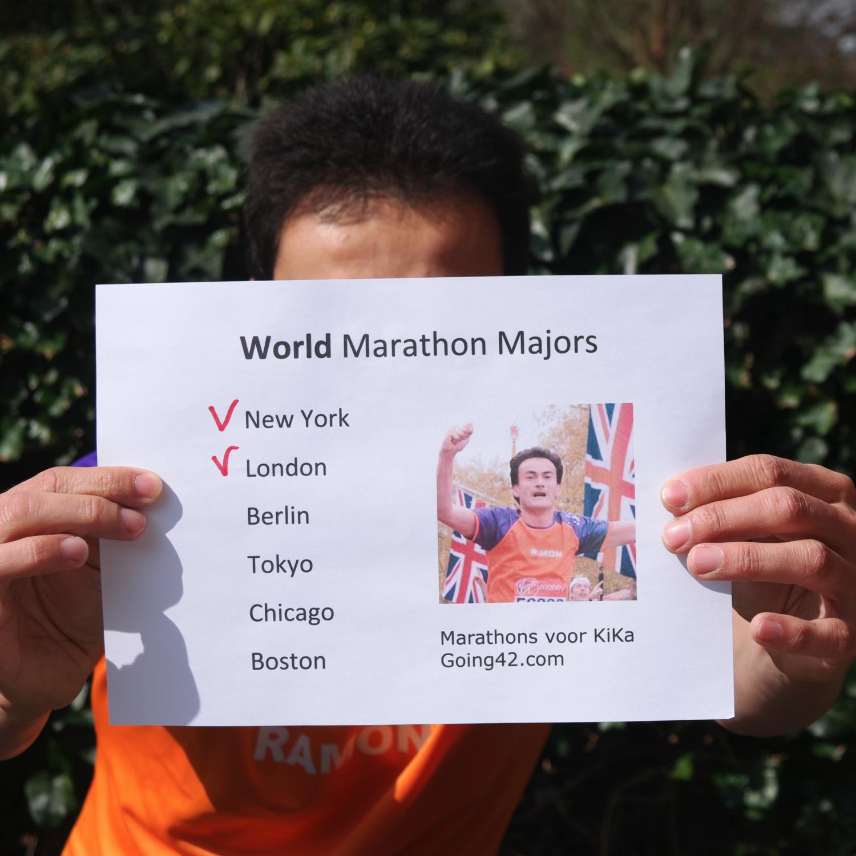 Ramon de la Fuente gaat 6 World Marathon Majors lopen voor KiKa.