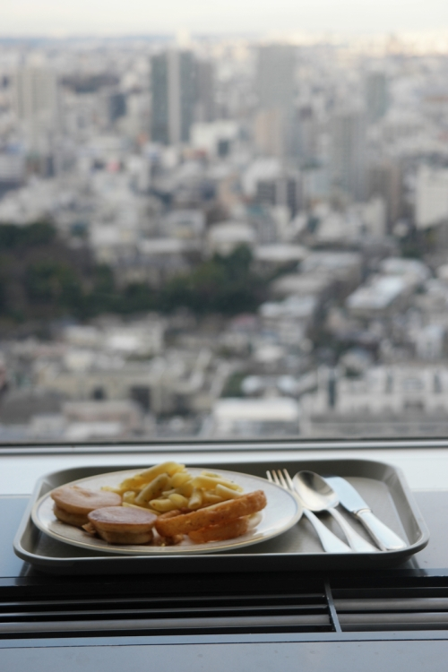 Ontbijt op de 39e verdieping van Prince Shinagawa hotel
