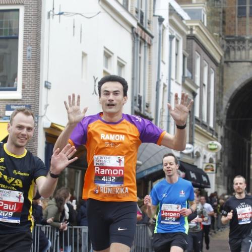 Halve marathon Utrecht bij de Domtoren