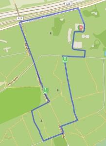 Route van KiKa Run Leusderend