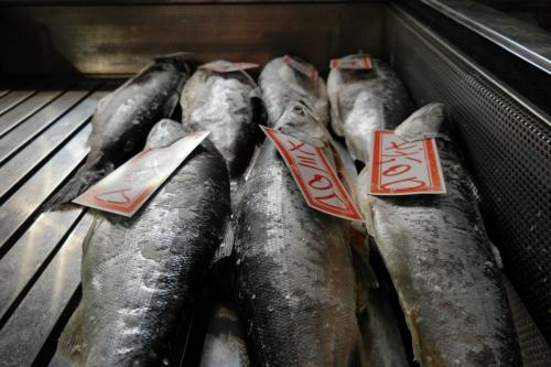 Tsukiji vismarkt Tokyo