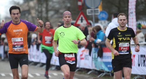 Utrecht halve marathon finish Ramon de la Fuente