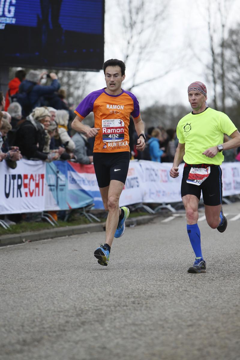 Utrecht halve marathon: Ramon de la Fuente.