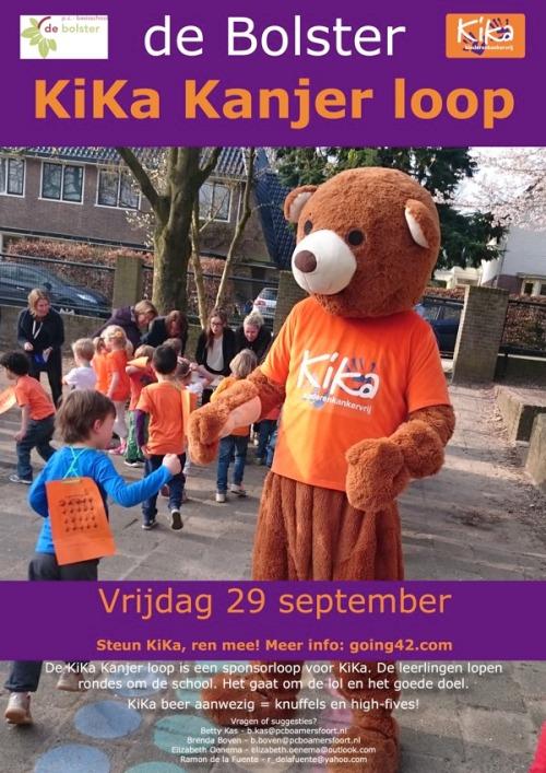 KiKa run 2017 van basisschool de Bolster in Amersfoort