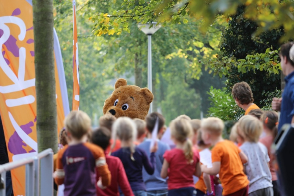 KiKa Kanjer loop op basisschool de Bolster in Amersfoort.
