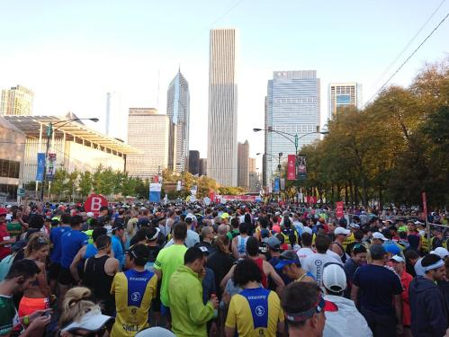 Startvak Chicago Marathon