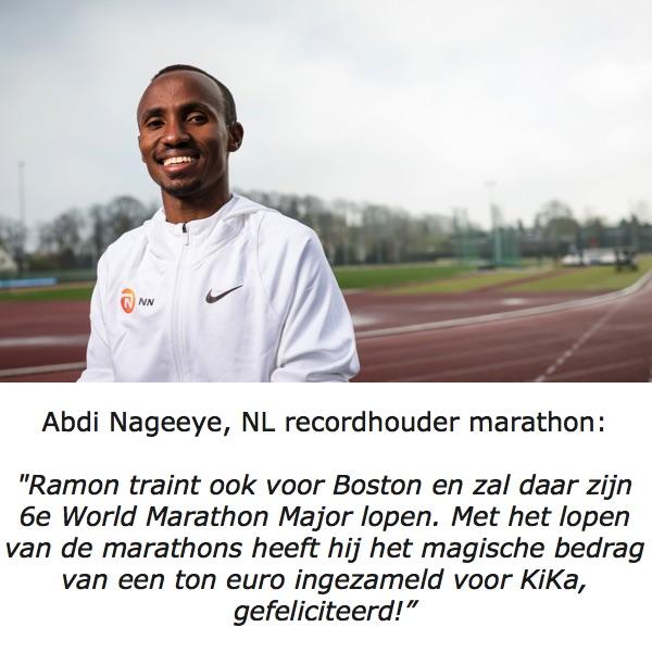 Abdi Nageeye feliciteert Ramon de la Fuente