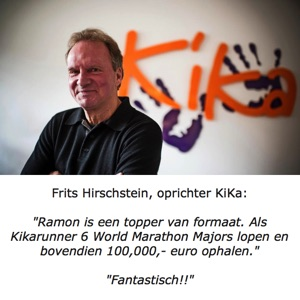 Oprichter van KiKa: Frits Hirschstein bedankt Ramon de la Fuente.