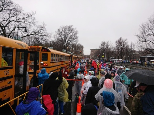 Boston Marathon Schoolbus to Hopkinton