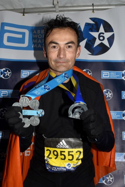 Six Star Finisher Ramon de la Fuente at Boston Marathon 2018