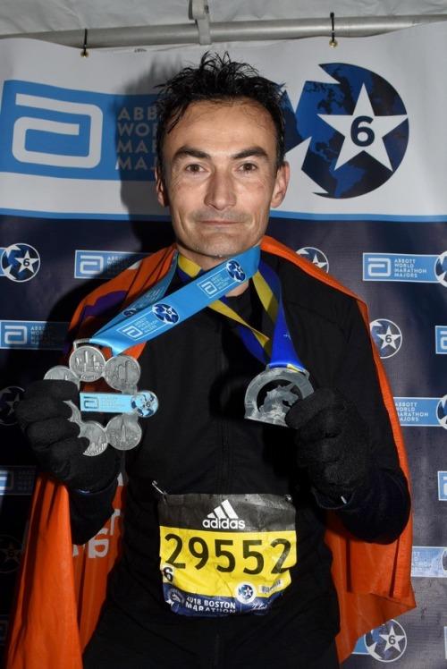 Six Star Finisher Ramon de la Fuente at Boston Marathon 2018