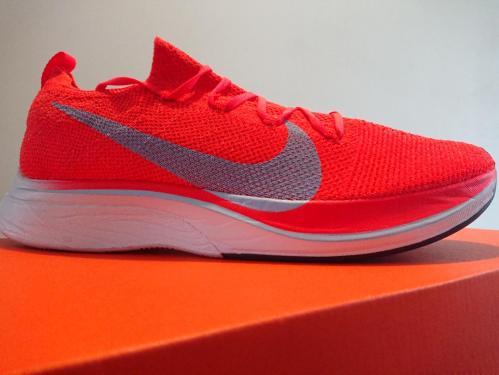 Nike Zoom Vaporfly 4% Flyknit Marathon schoenen.