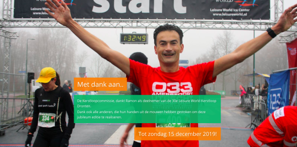 Ramon de la Fuente finishfoto Kerstloop Dronten.