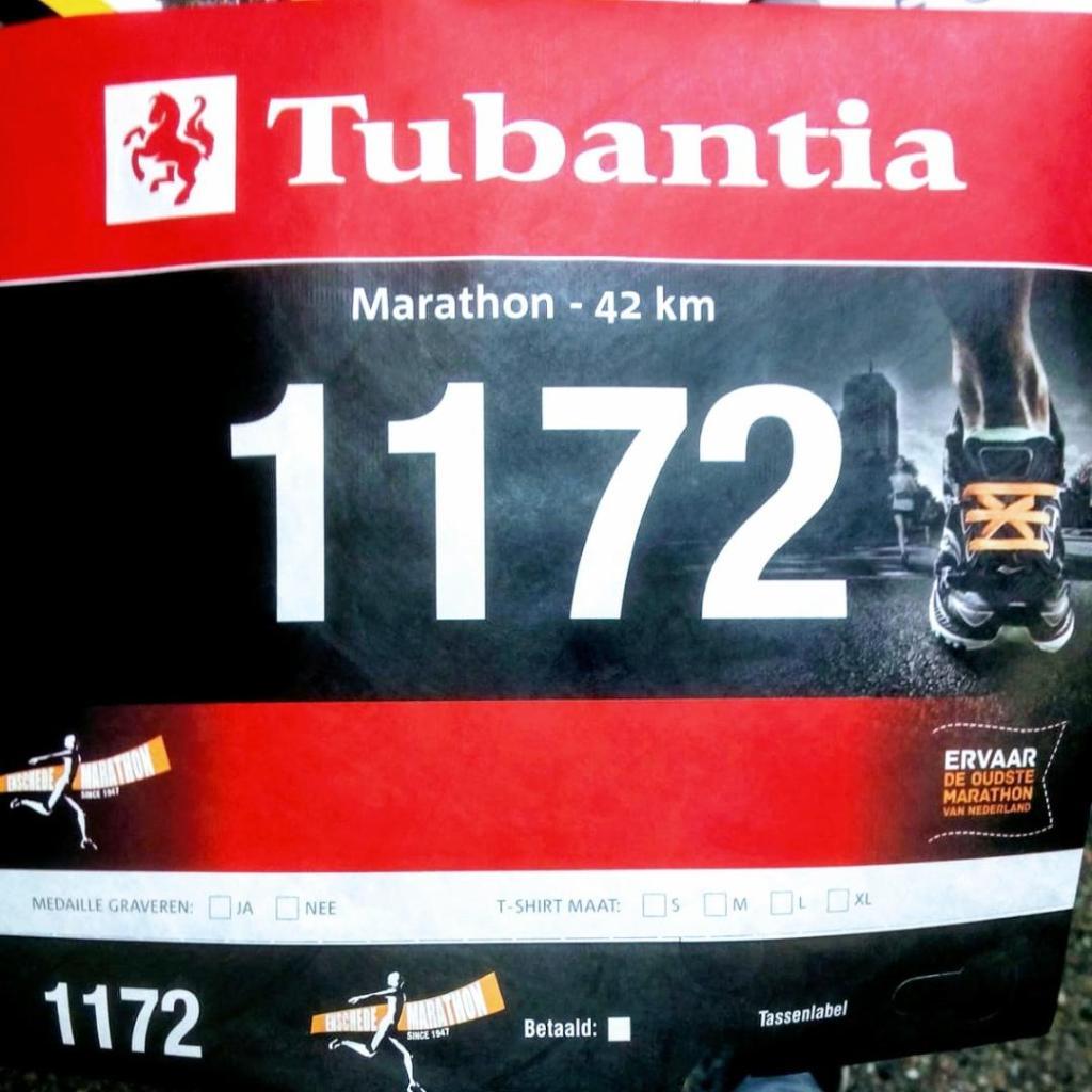 Startbewijs voor de Enschede Marathon - BIB