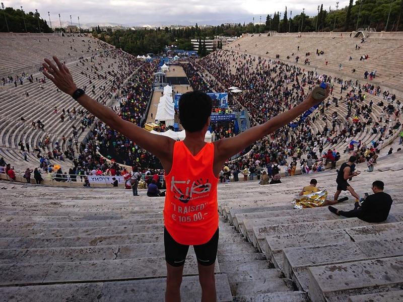 Marathon Athene Finish - Ramon de la Fuente - Olympisch Stadion.