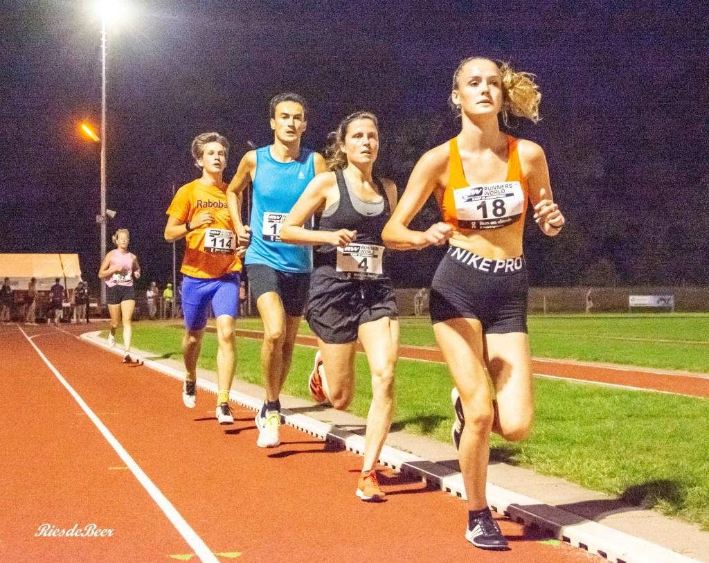 Keistad Baancompetitie Amersfoort 3000m bij AV Triathlon in 2020. Foto: Ries de Beer.
